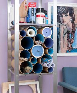 #DIY Organizer tubes #101woonideeen.nl - Dutch interior and crafts magazine