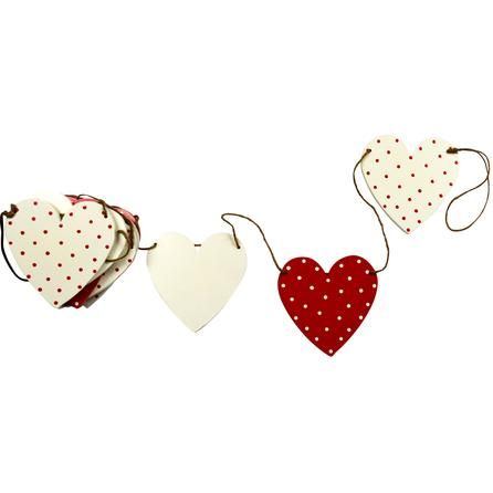 Ruby Collection Heart Shaped Bunting | Dunelm Mill