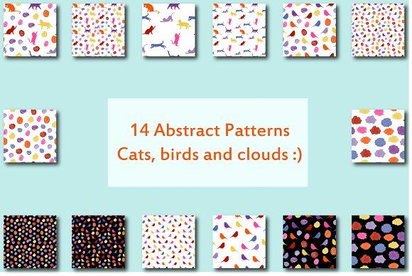Abstract Seamless Patterns by Orangepencil on @creativemarket