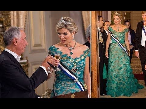 Friends, a shiny video is here ✨ Queen Maxima of the Netherlands Recycles her Green Taminiau Gown at Portuguese State Banquet https://youtube.com/watch?v=A94DT9EC7Fs