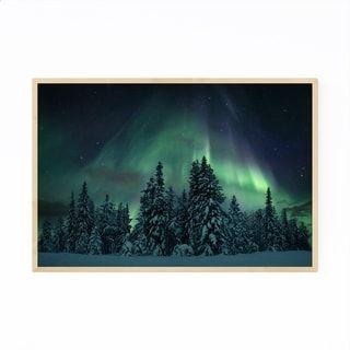 Noir Gallery Aurora Borealis Lapland Finland Framed Art Print (Black – 20 x 30)
