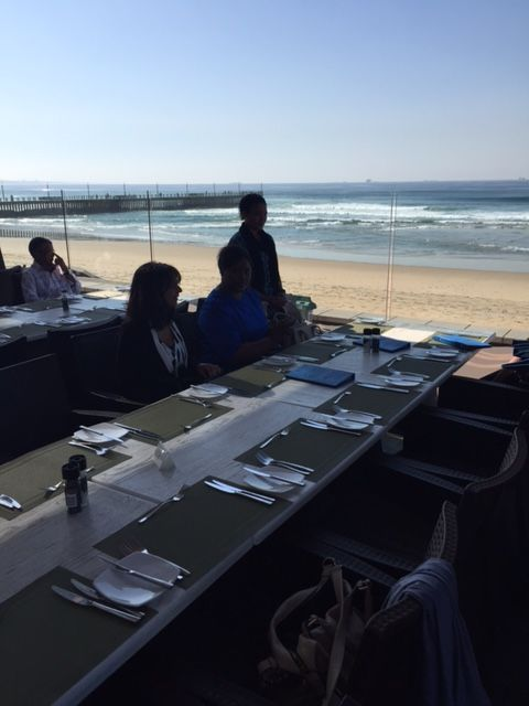 The gorgeous view at the #beach office's celebratory #lunch