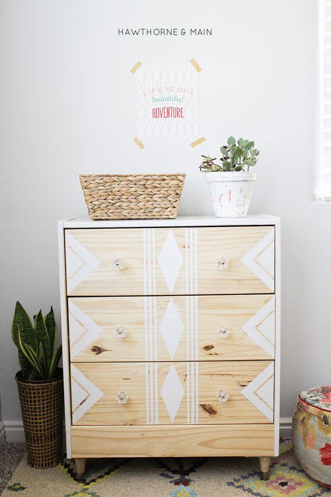 ikea dresser into a sleek modern mid century dresser or night stand.