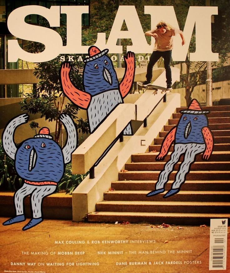 Couverture Slam Skateboarding Magazine @ Lucas Beaufort