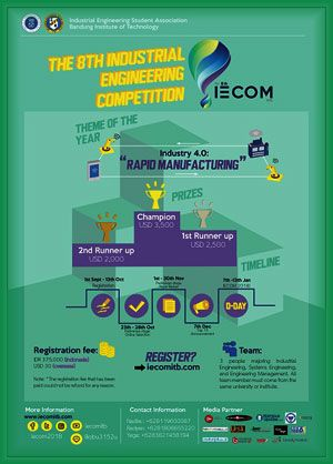 #IECOM #IndustrialEngineering #Competition #AsiaPacific #ITB #Bandung 8th IECOM 2018 Industrial Engineering Competition Asia Pacific  DEADLINE: October 13, 2017  http://instuco.com/international-student-competition.php?title=8th-iecom-2018-industrial-engineering-competition-asia-pacific