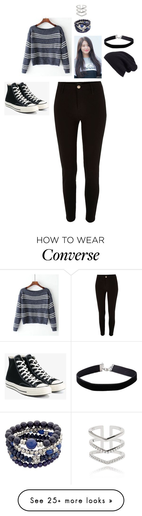 """""""MIestilo0841"""" by paolaalbo on Polyvore featuring River Island, Converse, Halogen, Miss Selfridge and Astrid & Miyu"""