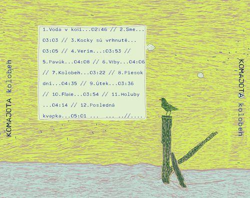 cd booklet . Cd Kolobeh, music band: Komajota 2010