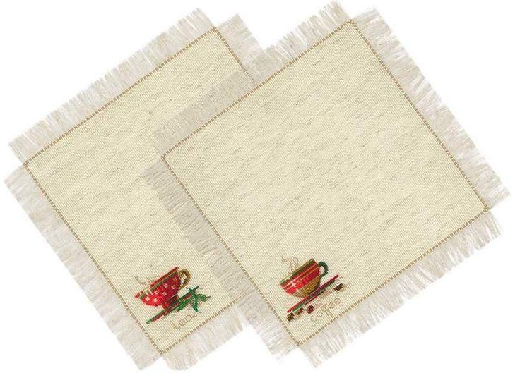 Набор для вышивания Риолис 1640 Салфетки Чай и кофе