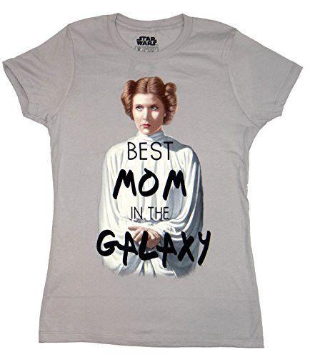 Star Wars Princess Leia Best Mom In The Galaxy Juniors T-shirt