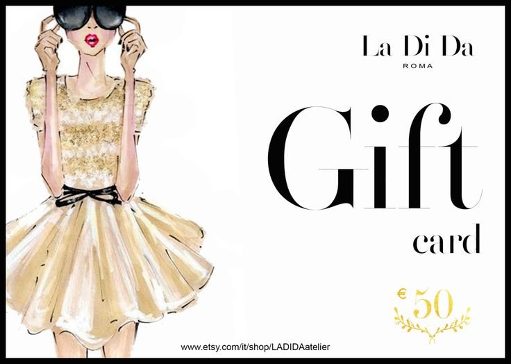 Gift Card, Gift Voucher, haute couture, Gift, made to measure, custom di LADIDAatelier su Etsy