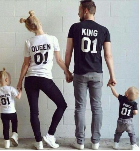 T-Shirt KING For Men and QUEEN For Women. Your's is here: https://ecolo-luca.com/products/t-shirt-king-for-men-and-queen-for-women