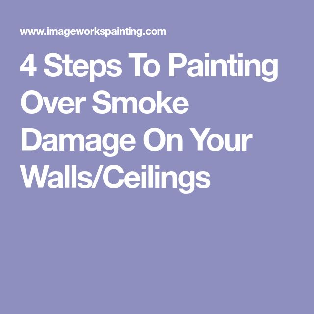 4 Steps To Painting Over Smoke Damage On Your Walls/Ceilings