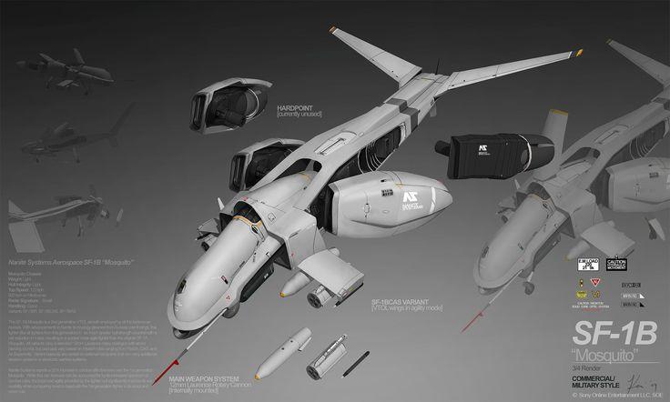 PLANETSIDE 2 Pre-Viz: SF-1B MOSQUITO by ukitakumuki.deviantart.com on @deviantART