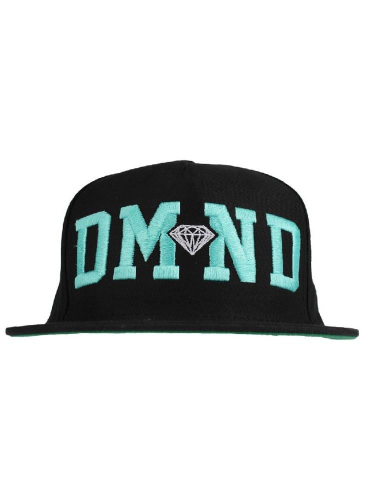 Diamond Supply Co. DMND Snapback Hat - Black/Diamond Blue/White $37.00 #diamondsupply