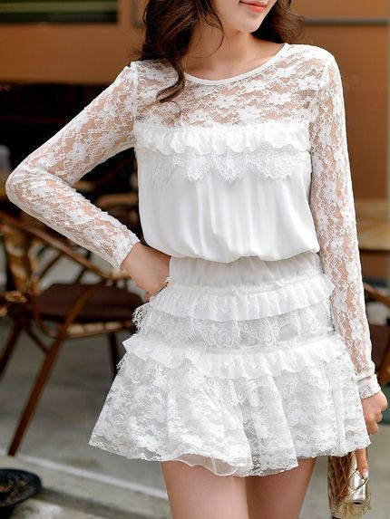 See-through Look Lace Rompers