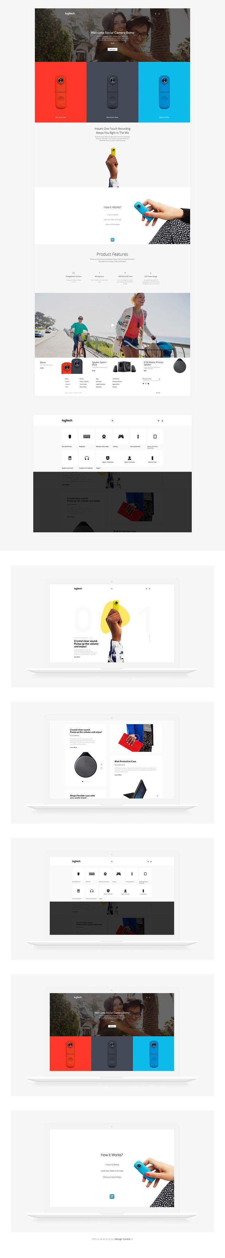 Web Design - Logitech | Abduzeedo Design Inspiration