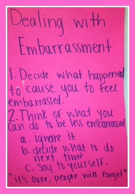 how to deal with embarrassment at work