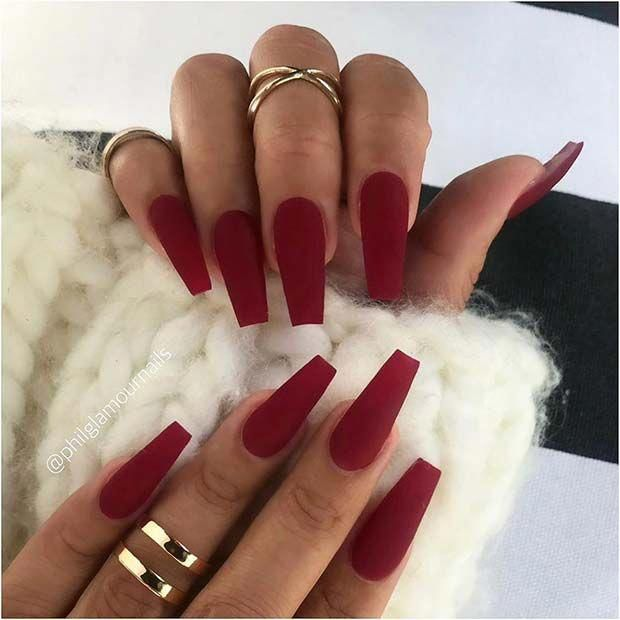23 Matte Nail Art Ideas That Prove This Trend Is Here To Stay Page 2 Of 2 Stayglam Mauve Nails Red Matte Nails Matte Nails Design