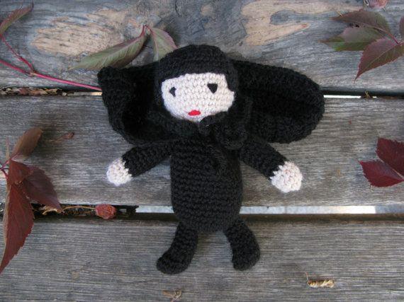 Вязание Маленькая вампиров Дракула Хэллоуин игрушки ручной работы Плюшевые игрушки вязание крючком Halloween Party Дизайн