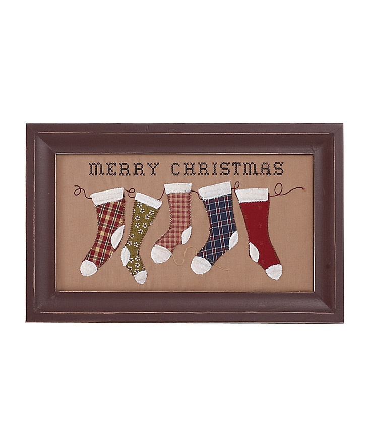 Stockings country holiday wall plaque merry christmas