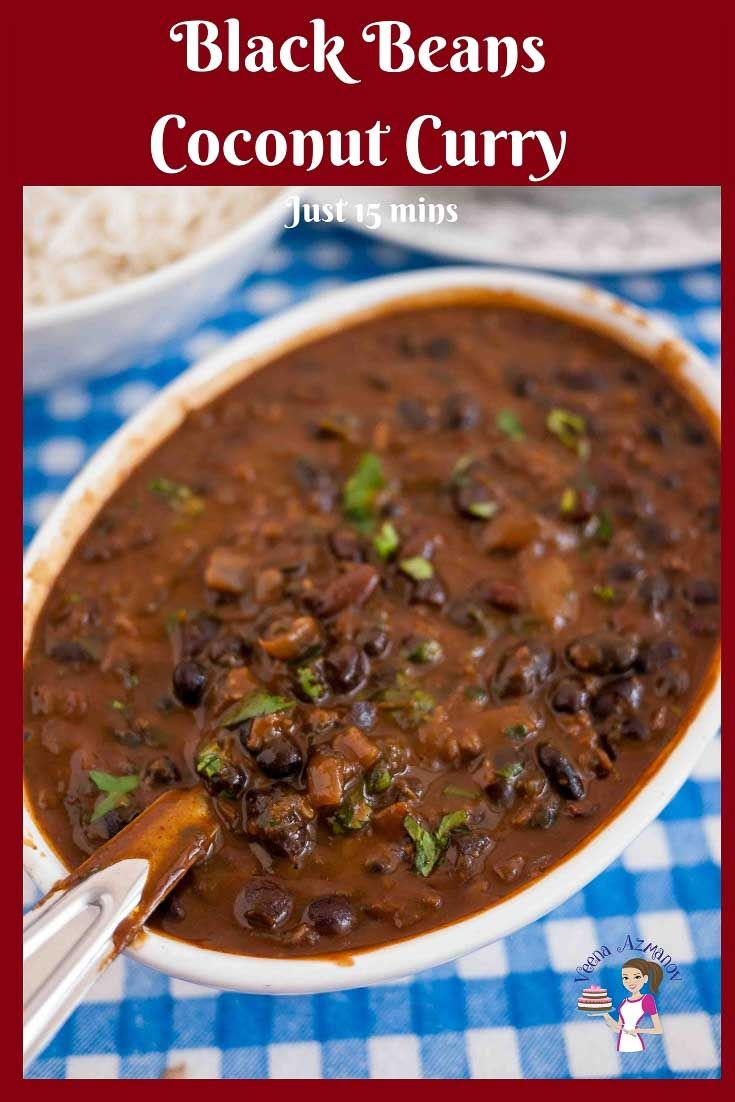 This Black Beans Coconut Curry Is A Healthy Addition To Any Diet Whether You Use Dried Or Canne Vegan Dinner Recipes Easy Coconut Curry Best Vegetarian Recipes