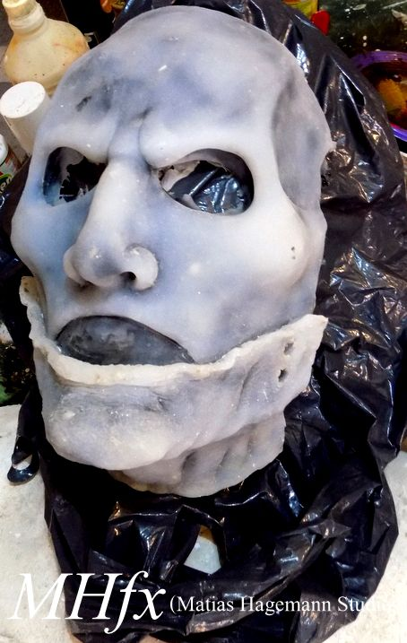 Silicon mask, slipknot, Corey Tylor the gray chapter. (work done by Matias Hagemann.)  mascara de silicona, slipknot, Corey Tylor, gray chapter ( trabajo realizado por Matias Hagemann)