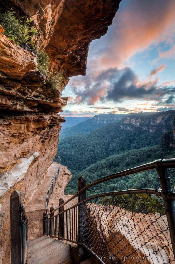 Beautiful view. Not sure about the fencing though... National Pass, Wentworth Falls - New South Wales, Australia