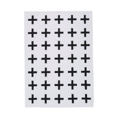 Black cross tea towel