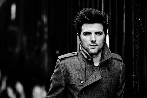Actor Adam Scott is photographed for Vogue Magazine on December 1, 2011 in Los Angeles, California.