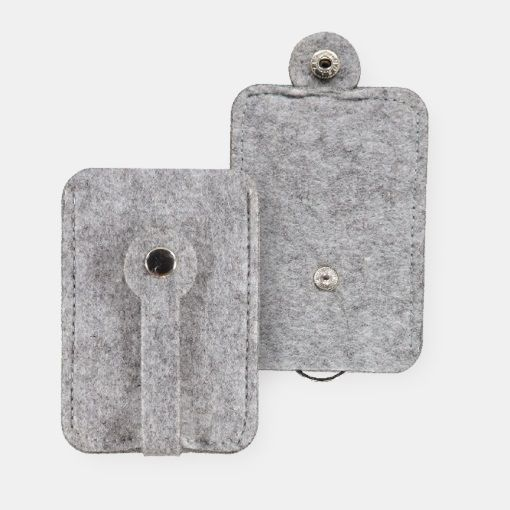 Kit filt nøgle etui 8x15cm lys grå mel - STOFF & STIL