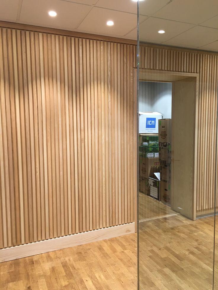 Wall panel of ash. #officeinterior #office #interiordesign #wood #scandinaviandesign #modity #dawnofideas #wip #workinprogress