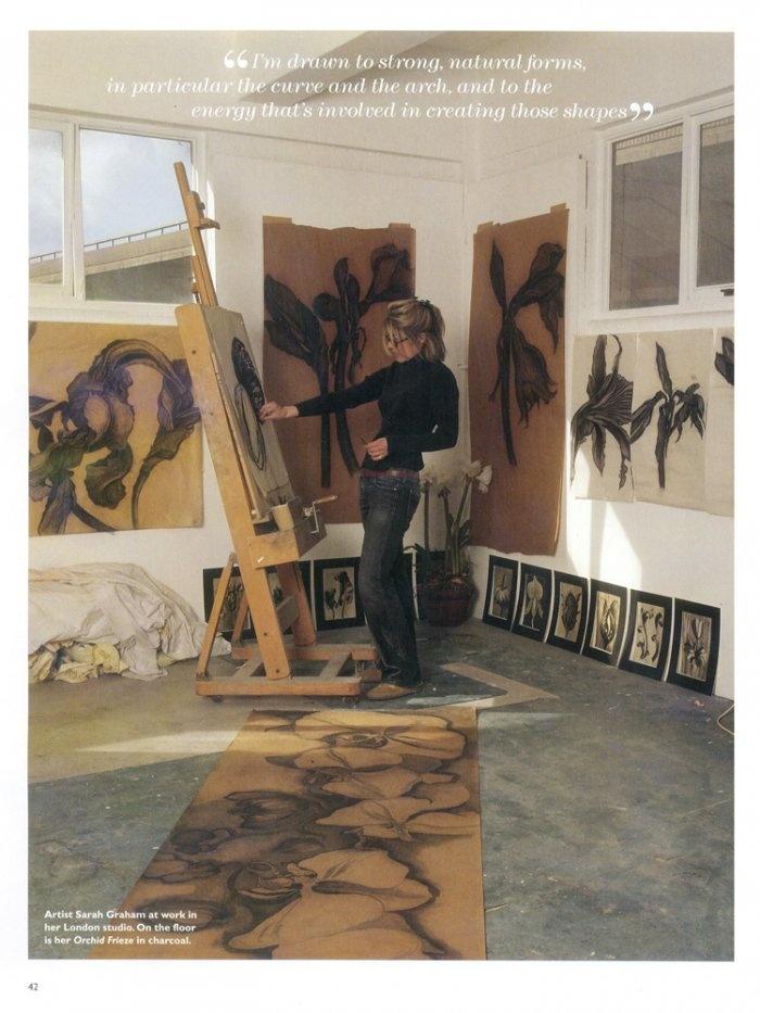 sarah graham uk artist/artist in studio   # Pin++ for Pinterest #