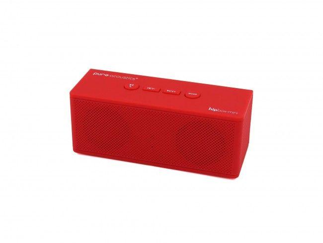 Pure Acoustics Hipbox Mini rood - Radio's met Bluetooth - Radio's - 123platenspeler.nl