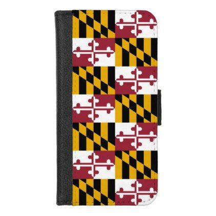 iPhone 7/8 Wallet Case with Flag of Maryland - stylish gifts unique cool diy customize