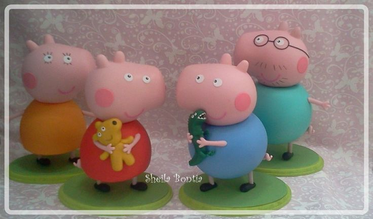 Peppa Pig and Family Figures