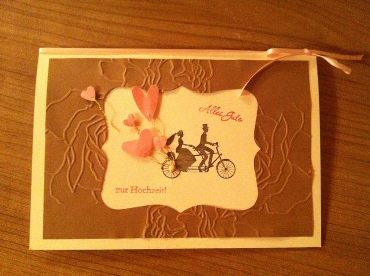 Weeding Wheels stampin up Brautpaar zur Hochzeit ;-)