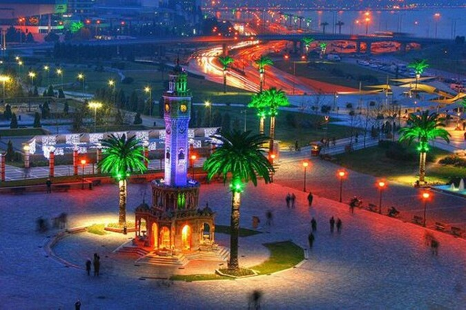 Colourful Clock Tower in İzmir