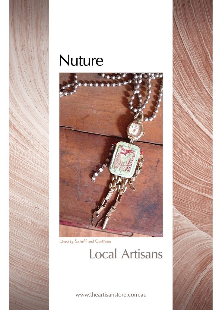 "The Oomi's are back...this time in a wearable form. With this necklace you will always have a friend to hang out with.... Postcards from The Artisan Store Fremantle Featuring Scruff and Cockrobin  What's the verdict on ""Nuture"""