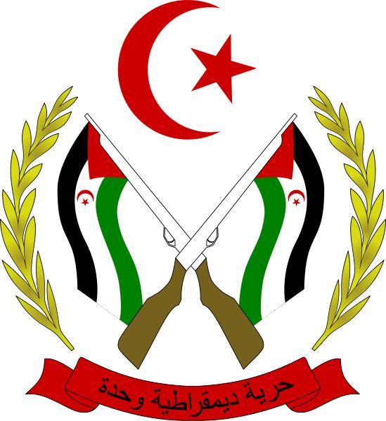 Coat of arms of the Sahrawi Arab Democratic Republic.