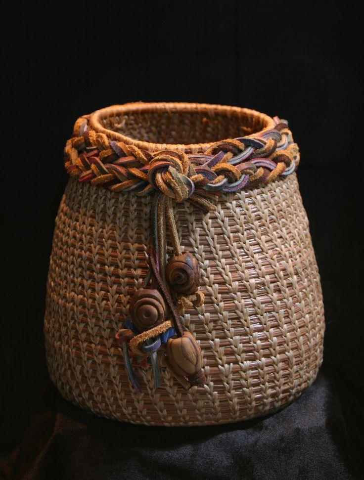 Pine Needle Basketry Decorative lip