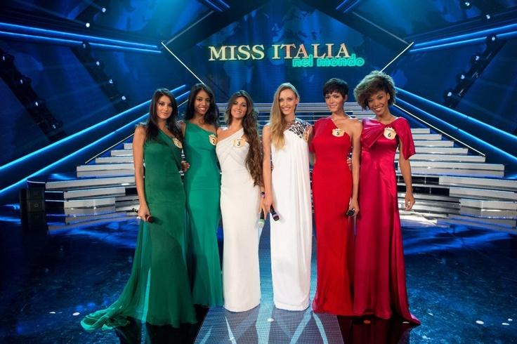 #MissItalia #Montecatini - Le Miss in tricolore.