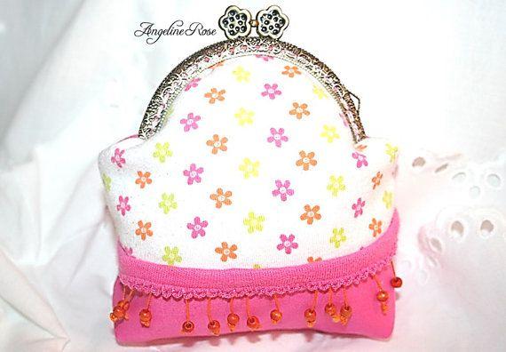flower purse flower clutch spring by AngelineRosePurse on Etsy