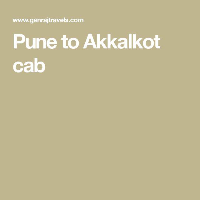 Pune to Akkalkot cab