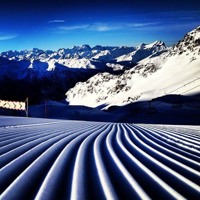 © Orelle_les3vallees #Blue #Sky #Ski #Snow #ValThorens