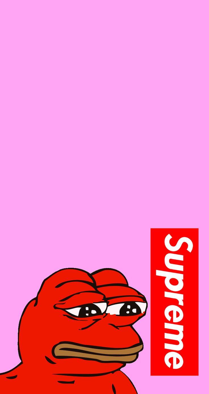 Ripndip Iphone Wallpaper Supreme Pepe4iphone In 2019 Supreme Iphone Wallpaper