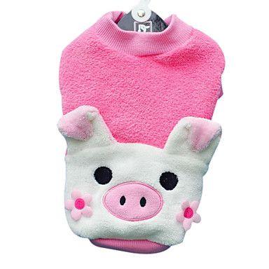 Coral Velvet Lovely Pig Style Shirt voor Honden (XS-XL)