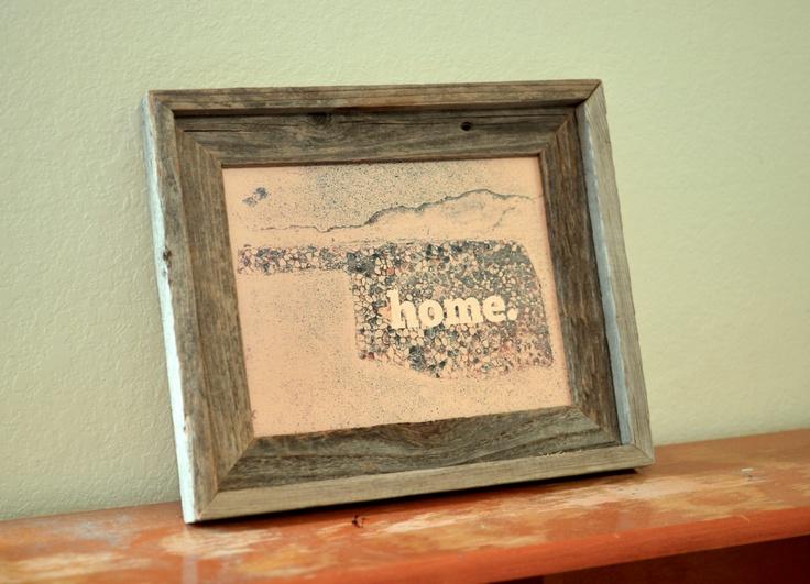 """Oklahoma """"home"""" print - 8x10. $25.00. via Etsy."""