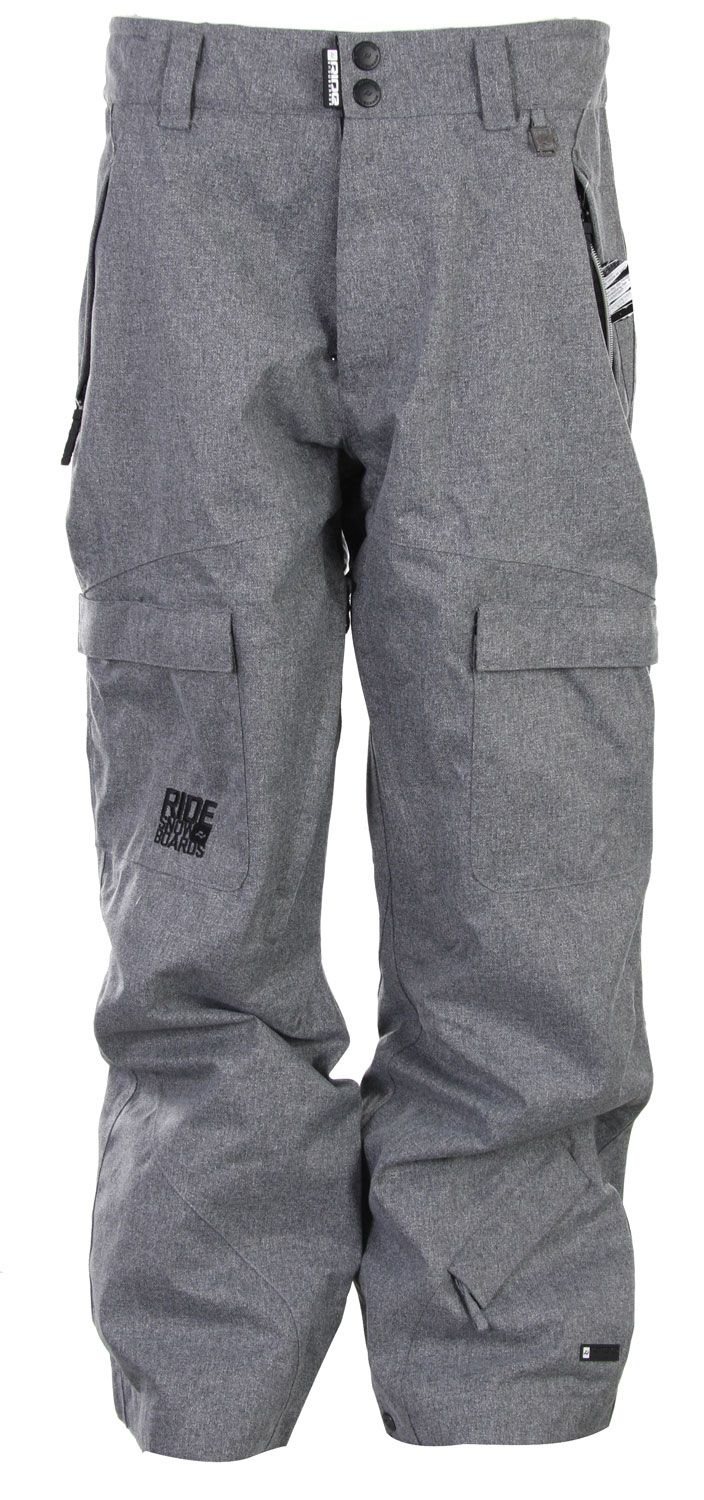 Ride Belltown Snowboard Pants Grey Tweed - Mens