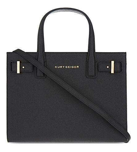 KURT GEIGER LONDON London saffiano leather tote. #kurtgeigerlondon #bags #shoulder bags #hand bags #leather #tote #lining #