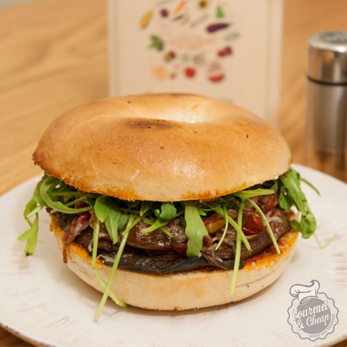 Burger με μανιτάρι portobello!  Avocado/Σύνταγμα!